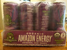 Sambazon Organic Amazon Energy Drink, Original Acai Berry, 12oz, pack of 12 cans