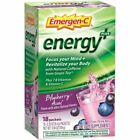 Emergen-C Energy Plus 250mg Energy Drink Mix Blueberry Acai 18 Pack