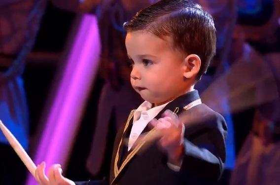 Venceu o 'Got Talent' espanhol com três anos e um tambor