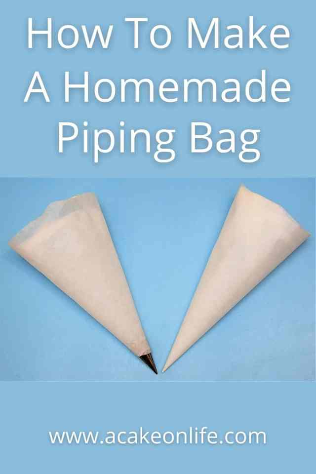 How To Make A Homemade Piping Bag Out Of Greaseproof Paper - A