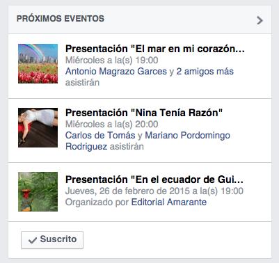 Editorial Amarante Suscripcion Facebook