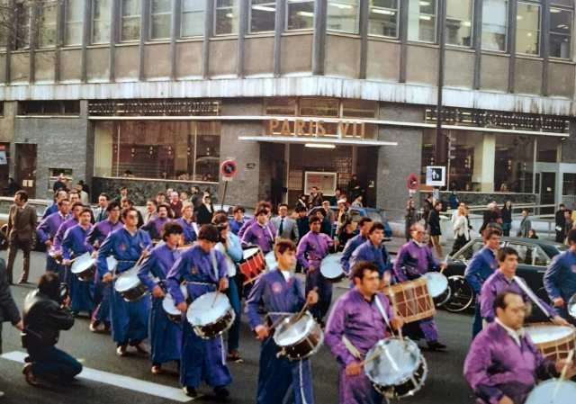 Inauguración del Liceo Luis Buñuel de París con los Tambores de Calanda