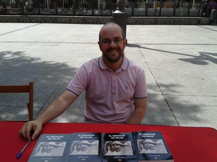 Carlos Rodrigo en la Feria del Libro de Toledo