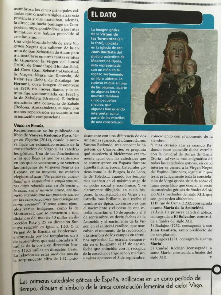 """Artículo sobre """"Virgo en España"""" ensayo histórico y de arte de Vanesa Redondo"""