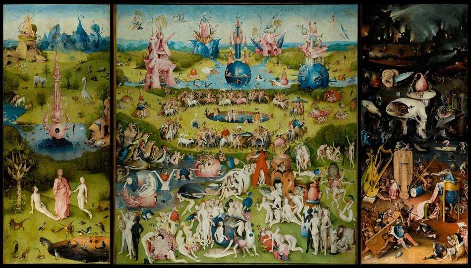 El jardín de las delicias es una de las obras más conocidas del pintor holandés Hieronymus Bosch (el Bosco)