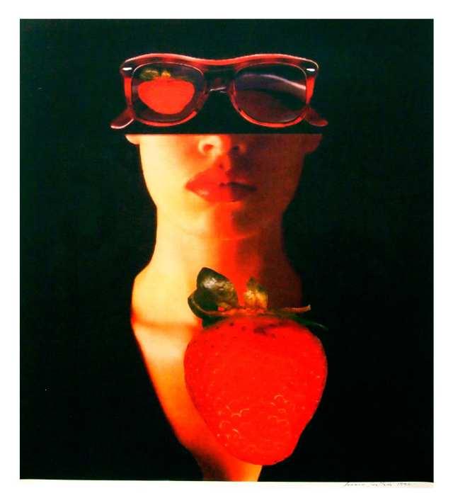"""""""Mujer con Frutilla"""" obra perteneciente al fotógrafo Francisco Javier Tenllado"""
