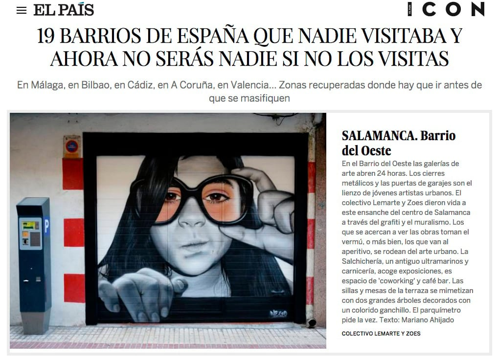 Editorial Amarante - El País - Barrio del Oeste - ZOES