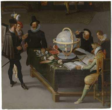 El geógrafo y el naturalista, Adriaen van Stalbent, final XVI - principio XVII. Museo Nacional del Prado