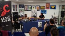 Grabación del programa Los Crononautas, con el director del festival, Carlos Jean
