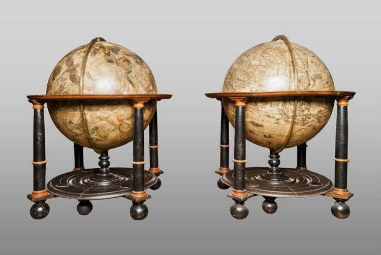 Los globos terrestre y celeste como revolución científica