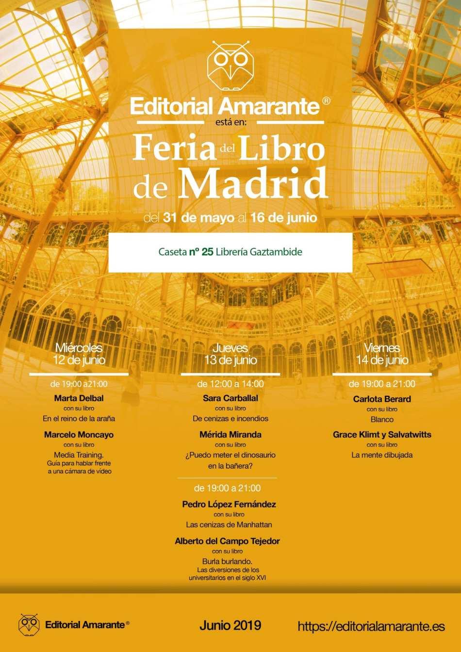 Cartel A3 Feria del Libro Madrid 2019 Amarante-01