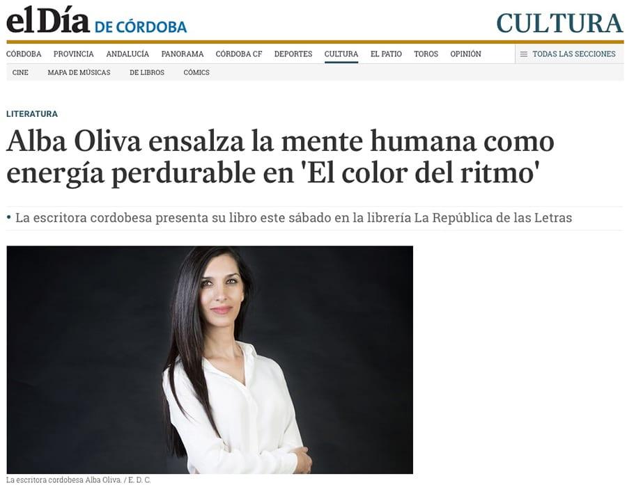 Editorial Amarante - El Día de Córdoba - El color del ritmo - Alba Oliva