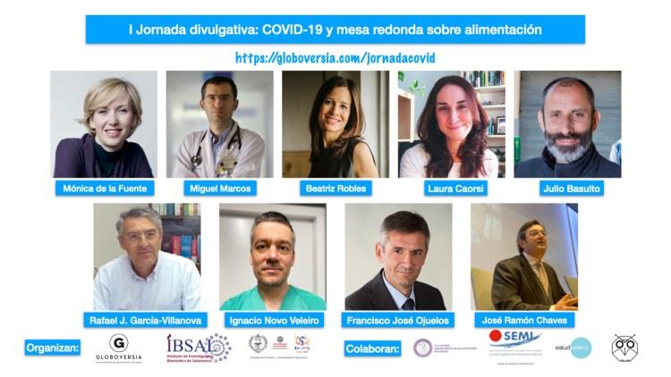 Jornada divulgativa: COVID-19 y mesa redonda sobre alimentación