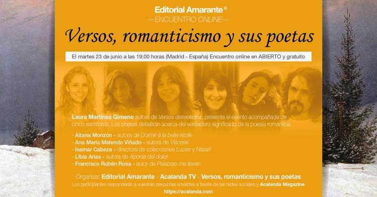 Versos, romanticismo y sus poetas