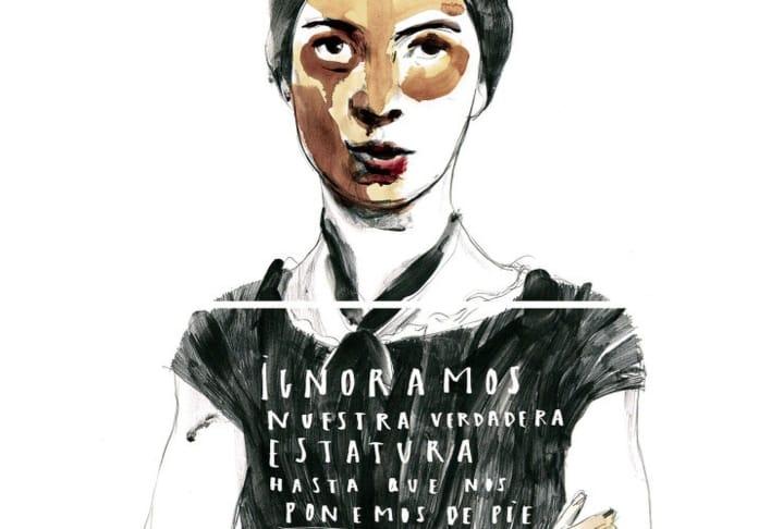 Ilustración de Emily Dickinson, de la mano de la ilustradora Paula Bonet