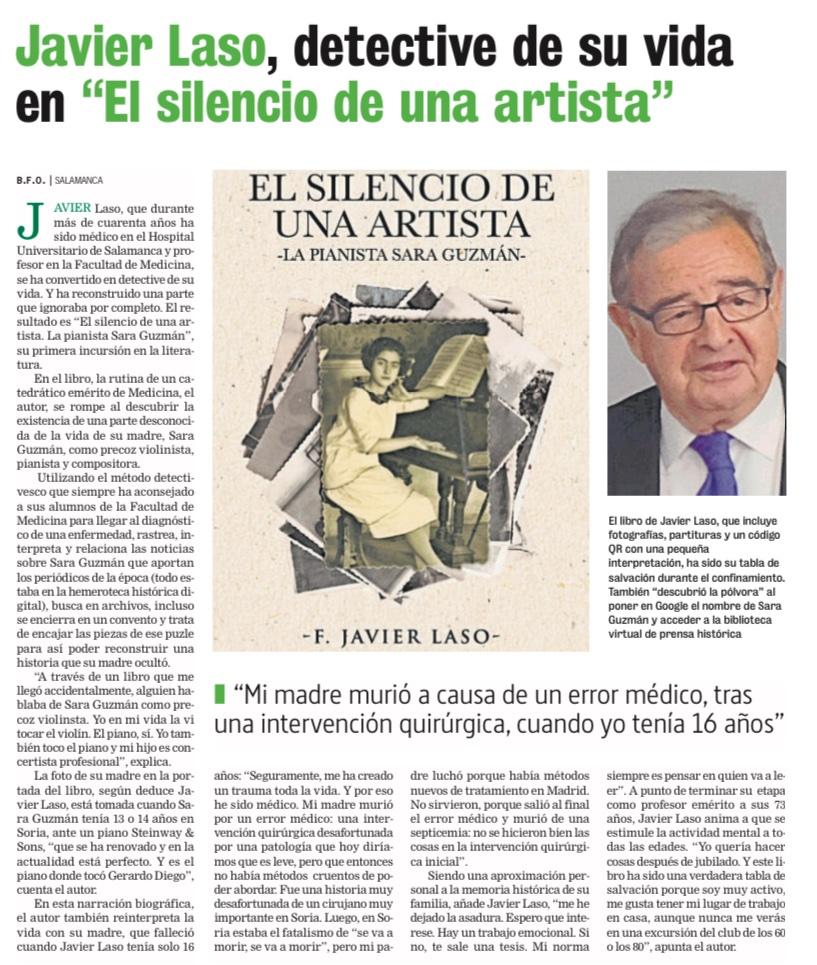"""Javier Laso, detective de su vida en """"El silencio de una artista"""""""