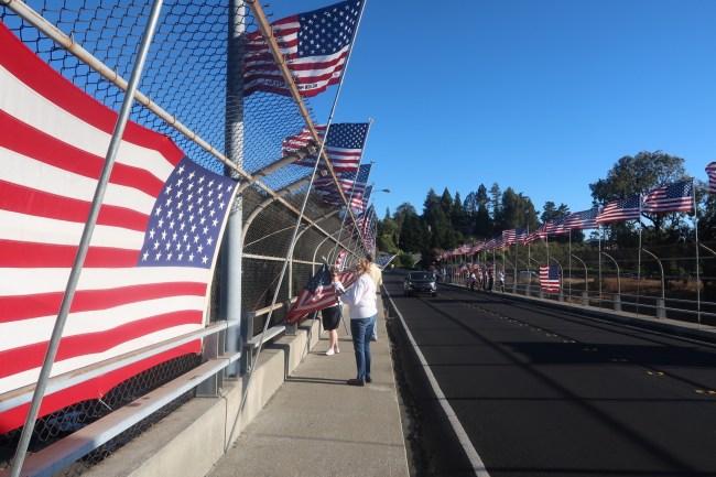 Lafayette Flag Brigade Marks 17th Annual Memoriam of 9/11