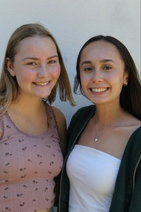 Jenna Evaristo and Sydney Rohrbough, Business Managers
