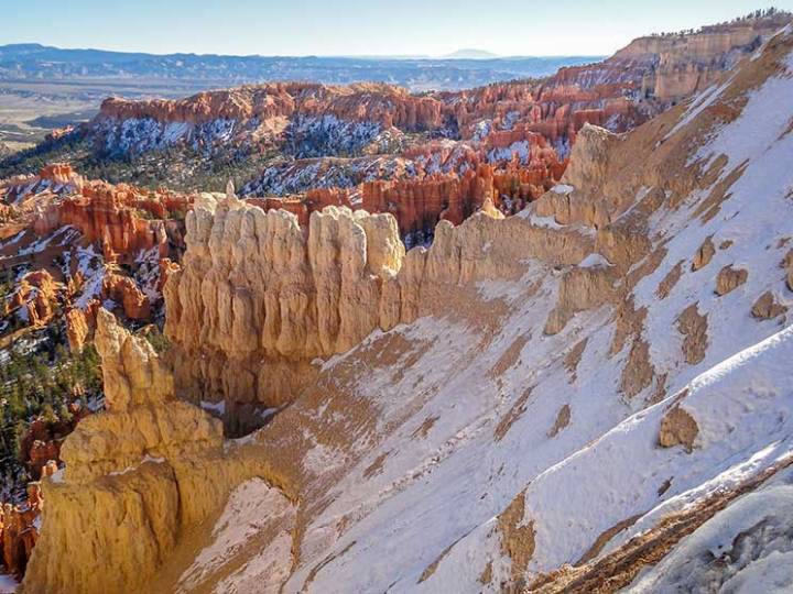 Neve no Bryce Canyon. Foto: Angela Manta