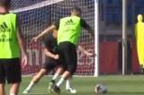 Cristiano Ronaldo faz golaço em treino do Real Madrid e posta vídeo na web
