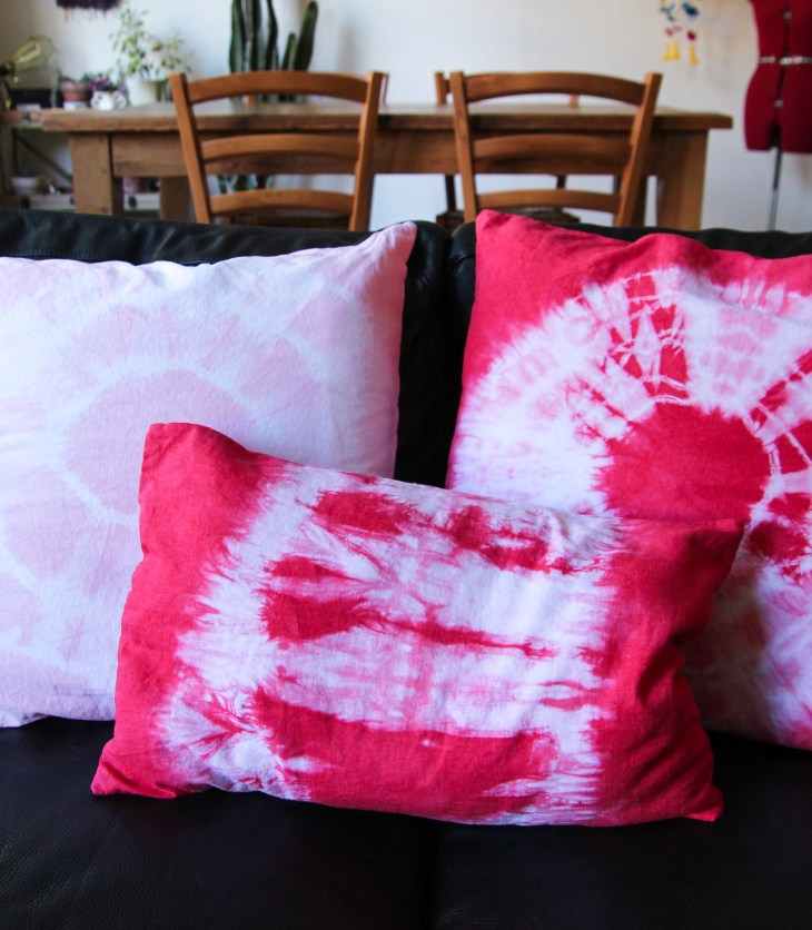Comment réaliser des coussins tie & dye // How to make tie & dye cushions