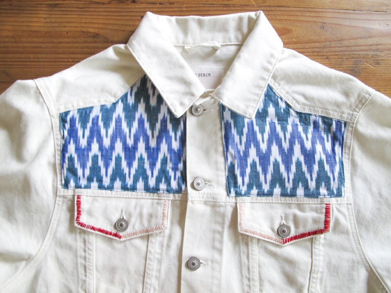 DIY // Comment customiser une veste en jean // How to make a boho denim jacket // A Cardboard Dream Blog