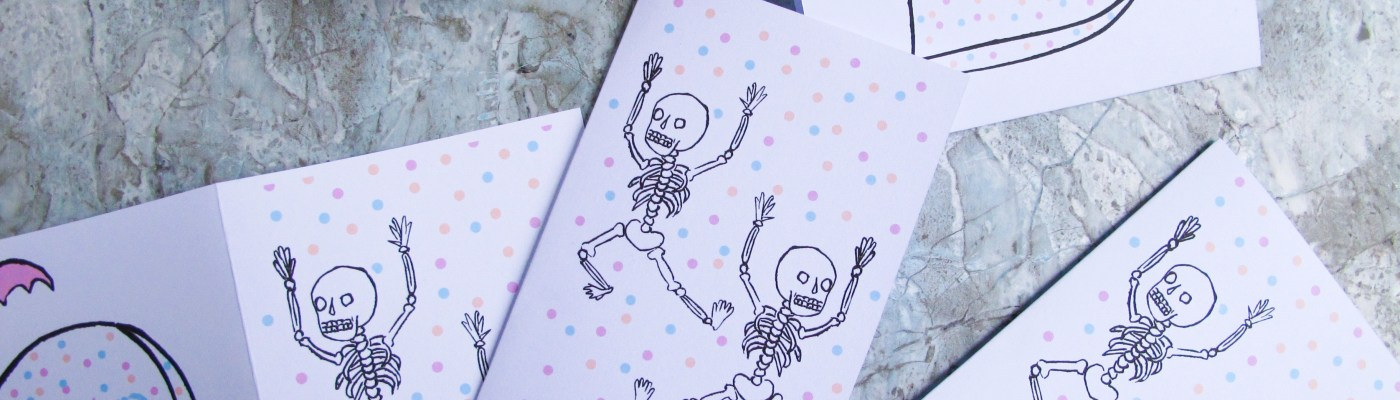 Free printable - Les invitations d'Halloween / A Cardboard Dream