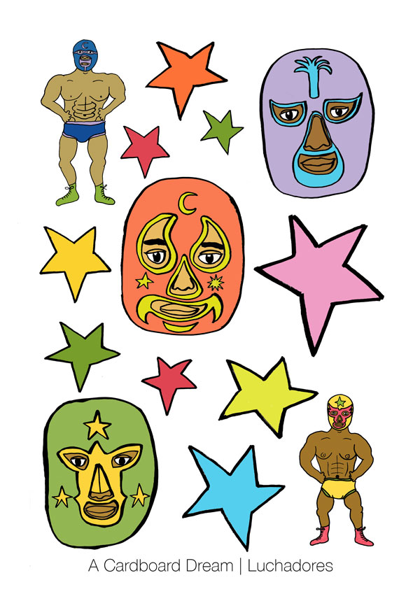 DIY // Free printable // les transferts luchadores // Luchadores transfer // A Cardboard Dream blog