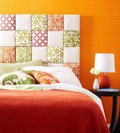 Il tessuto è perfetto per la camera da letto, rende la testiera accogliente e coinvolgente