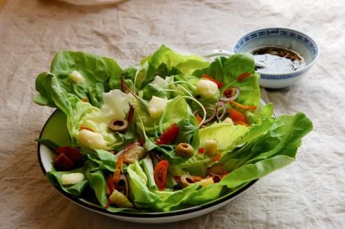 Receita de saladas mistas e molhos para salada