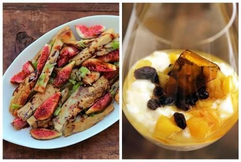 Batata doce e figos frescos
