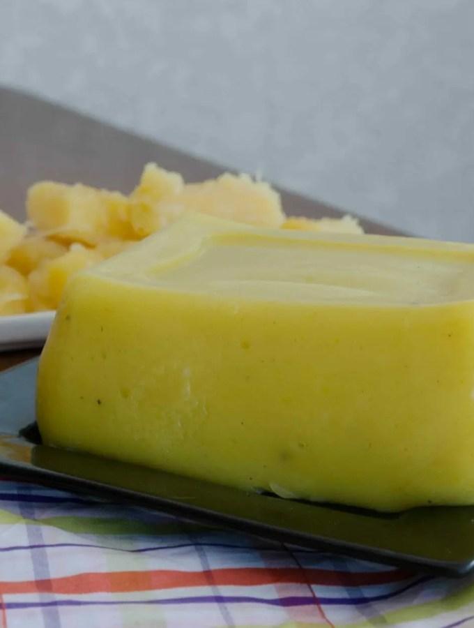 Queijo vegetal de mandioca