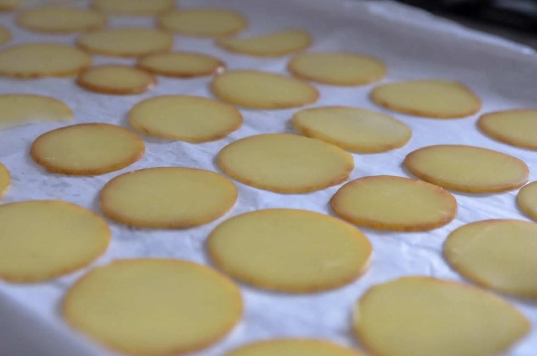 receita de chips de provolone