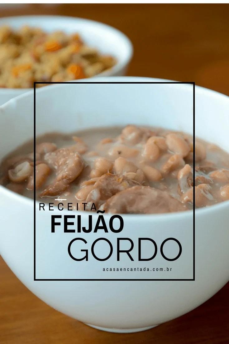 receita de feijão gordo - Feijão carioca com linguiças e bacon