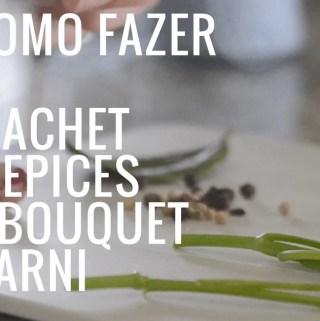 como fazer bouquet garni e sachet depices