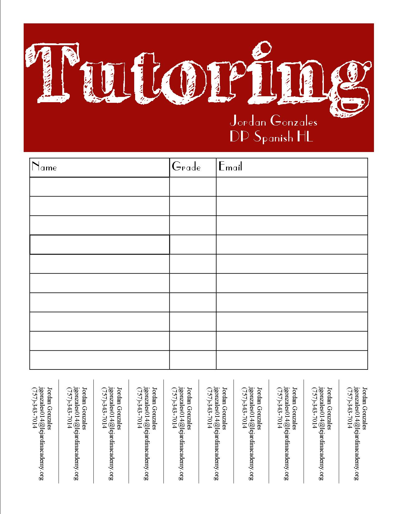 Sign Up Pick Worksheet