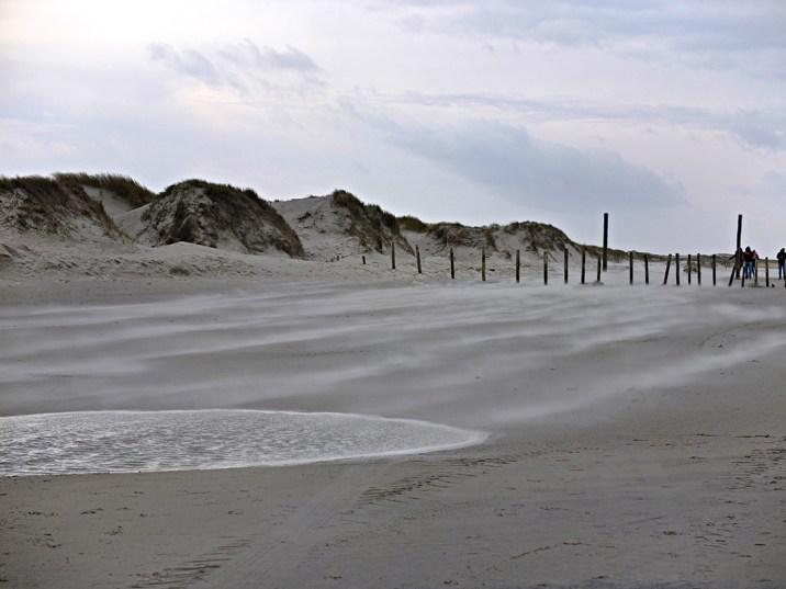 Nordstrand bei Sturm