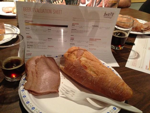 Beerthief - The Roast Beef and Tasting Sheet