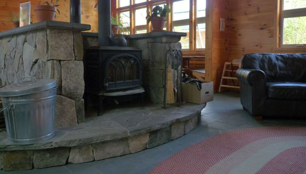 hut fireplace