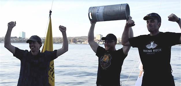 The winners of the 2015 Race the Kegs event.