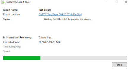 Download Exported PST