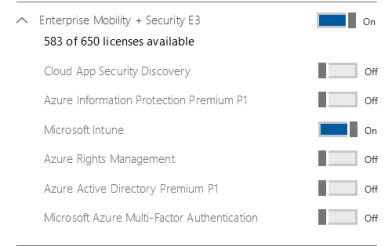 Assign Intune License