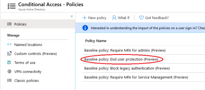 Enable MFA for All Users - Select Policy