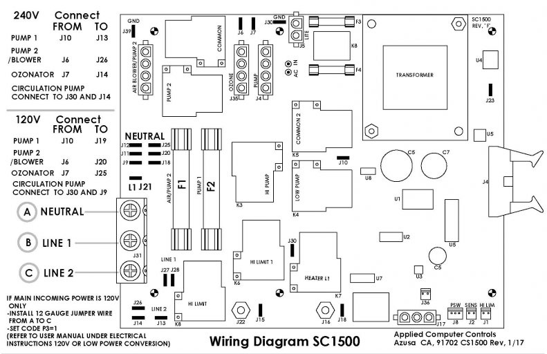 Wiring Diagrams Acc Spas Applied Computer Controls