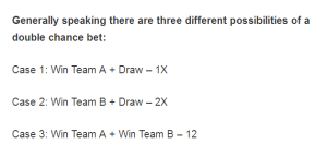 double chance bet meaning