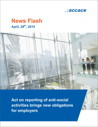 Act on reporting of anti-social activities brings new obligations for employers