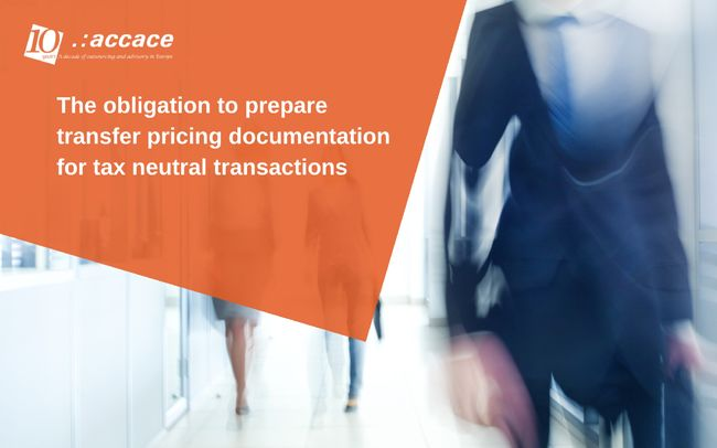 Transfer pricing documentation for tax-neutral transactions