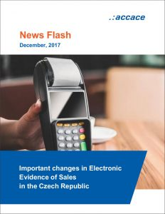 Important changes in Electronic Evidence of Sales in the Czech Republic