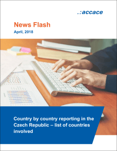 Country by country reporting in the Czech Republic – list of countries involved | News Flash