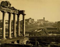 Braun, Clement Et Cie (Francese, attivo dal 1877 al 1928),Il foro di Roma (The forum Rome), stampa del 1890 da negativo del 1870ca. Carbon print, 61.6 x 76.8 cm (24V4 x 30V4 in.).